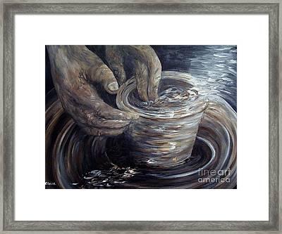 In The Potter's Hands Smaller Version Framed Print