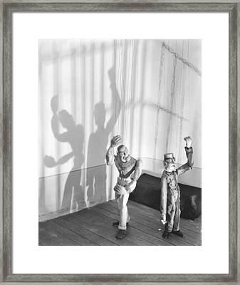In The Prison Cell, 1929 Framed Print