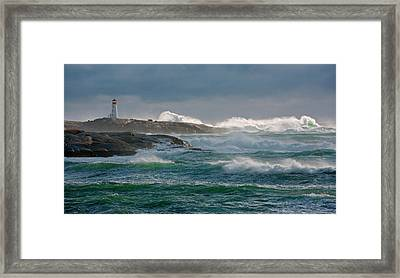 In The Protection Of A Lighthouse Framed Print