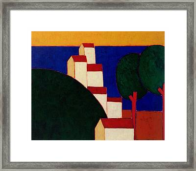 In The Provencal Alps Framed Print by Eithne Donne