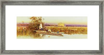 In The Punt Framed Print by Thomas James Lloyd