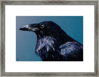 In The Rain Framed Print by Hazel Billingsley