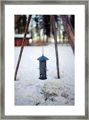 In The Reindeer Farm Of Tuula Airamo Framed Print