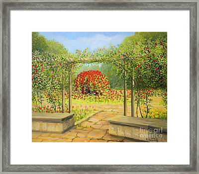 In The Rose Garden Framed Print