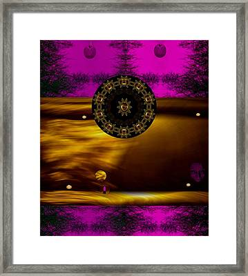 In The Sacred Forest Of Moonlight Framed Print