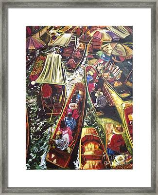 In The Same Boat Framed Print by Belinda Low