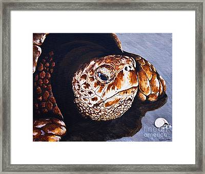 In The Sand Framed Print