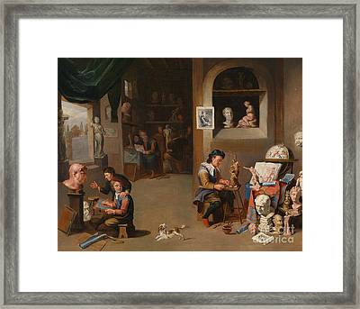 In The Sculptor S Studio Framed Print