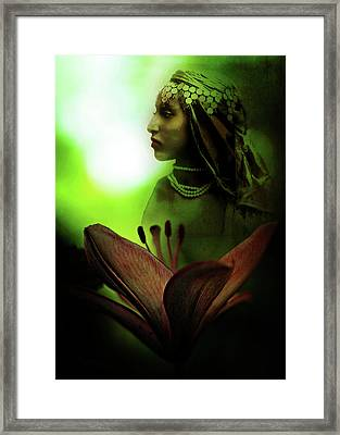 In The Secret Of Your Glance Framed Print by Rebecca Sherman