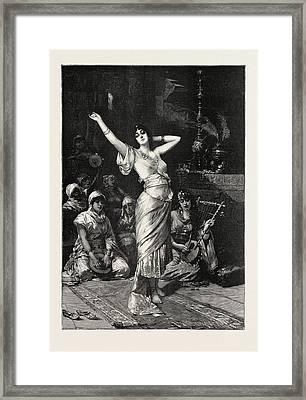 In The Seraglio, 1893 Engraving. Nathaniel Sichel Framed Print by Sichel, Nathaniel (1843-1907), German