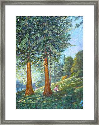 Framed Print featuring the painting In The Shade by Charles Munn