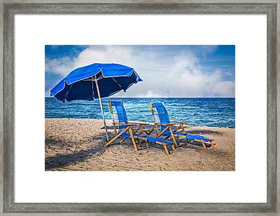 In The Shade Framed Print by Debra and Dave Vanderlaan