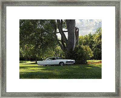 In The Shade Framed Print