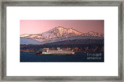 In The Shadow Of A  Mountain Framed Print