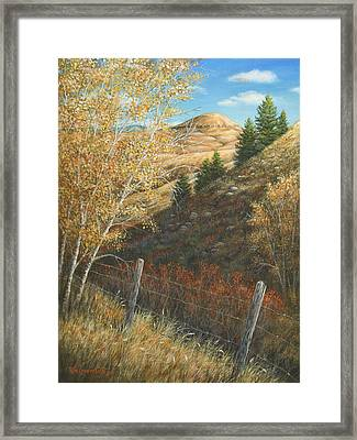 Framed Print featuring the painting In The Shadow Of Belt Butte by Kim Lockman