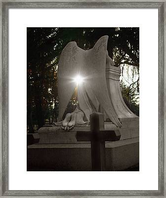 In The Shadow Of His Light Framed Print by Peter Piatt