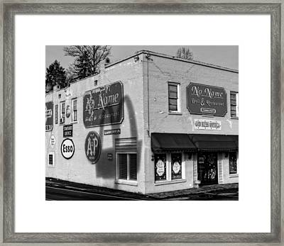 In The Shadow Of Mcdonald's Framed Print