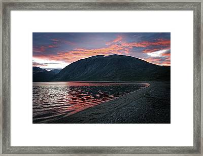 In The Shadow Of Mount Kaputyat Framed Print