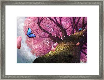 In The Shadow Of Peace Framed Print by Steve Goad