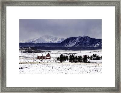 Framed Print featuring the photograph In The Shadow Of Pike's Peak by Kristal Kraft