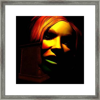 In The Shadow Of The Tomb Framed Print by Gallery Nex