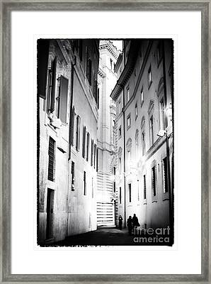 In The Shadows Framed Print by John Rizzuto