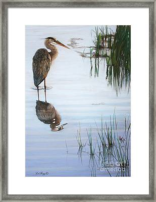 In The Shallows Framed Print by Deb LaFogg-Docherty