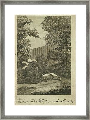 In The Shrubbery Framed Print