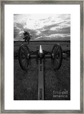 In The Sights At Gettysburg Framed Print by James Brunker