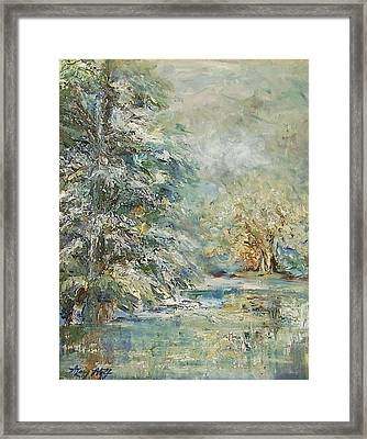 In The Snowy Silence Framed Print
