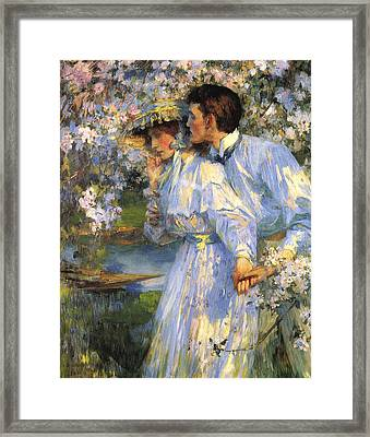 In The Springtime Framed Print by James Shannon
