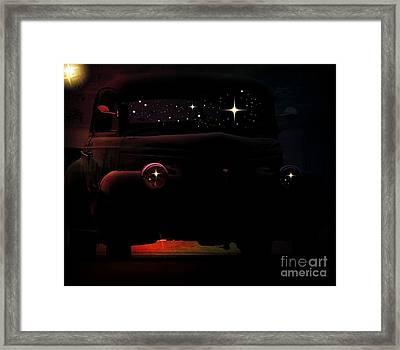 In The Still Of The Night Framed Print by Bobbee Rickard