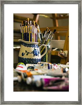 In The Studio Framed Print by Jon Woodhams