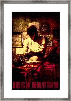 In The Studio  Framed Print by Josh Brown