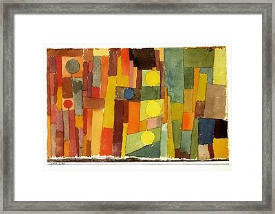 In The Style Of Kairouan Framed Print by Paul Klee