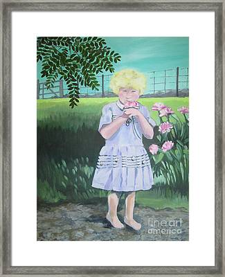 In The Summer Shade Of The Locust Framed Print