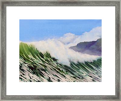 In The Surf Framed Print