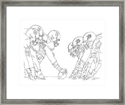 In The Trenches Framed Print by Calvin Durham