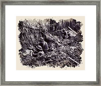 In The Trenches Framed Print by Daniel Hagerman