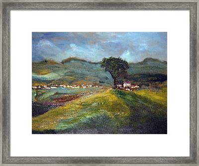 In The Tuscan Hills Framed Print