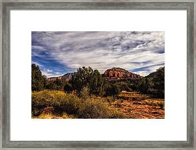 In The Valley Below Framed Print