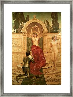 In The Venusburg Framed Print by The Honourable John Collier