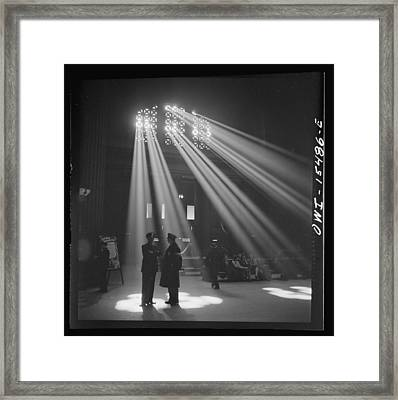In The Waiting Room At Chicago Union Station Framed Print by Historic Photos
