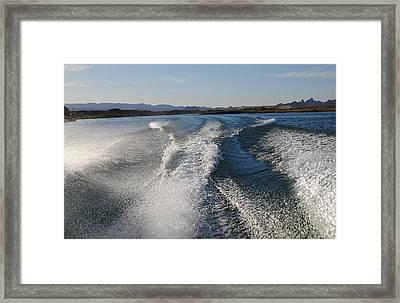 In The Wake Of Lake Havasu Az  Framed Print