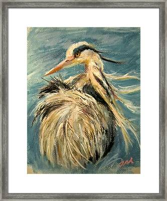 Framed Print featuring the painting In The Water  by Jieming Wang