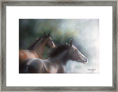 In The Wind Framed Print by Jean Yves Crispo