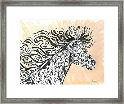 In The Wind Framed Print by Susie WEBER