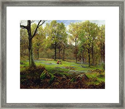 In The Woods Framed Print by Henry Crossland