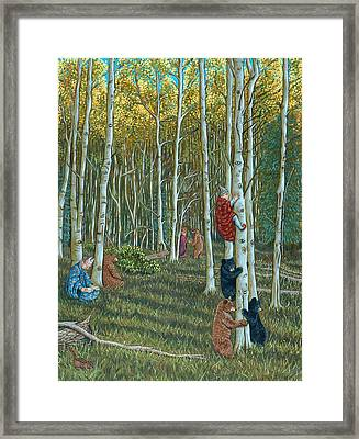 In The Woods Framed Print by Holly Wood