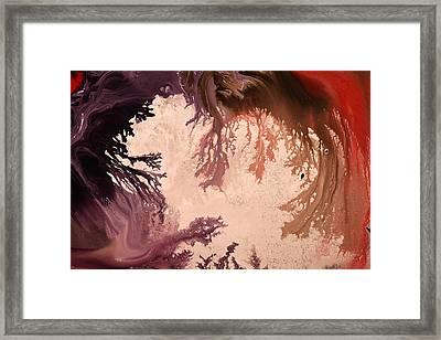 In The World Of Reverie Dark Abstract Art By Kredart Framed Print by Serg Wiaderny